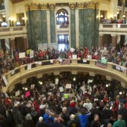 Wisconsin state capitol protesters